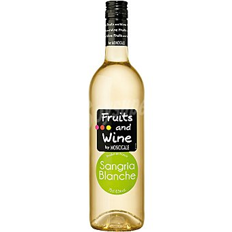 FRUITS & WINE Vino sangría blanca botella 75 cl