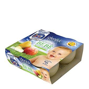 Glenisk Yogur de queso fresco con pera y manzana 4 unidades de 60 g