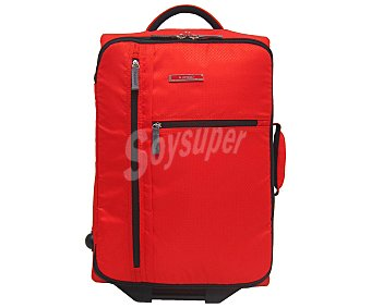 IN EXTENSO Maleta sin ruedas, flexible y plegable (bolsa para guardarla incluida), color rojo, medida: 55 centímetros 55cm