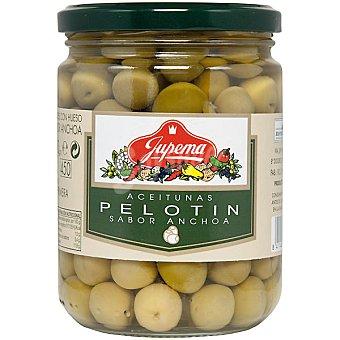 Jupema Aceitunas Pelotín con sabor a anchoa Frasco 250 g neto escurrido