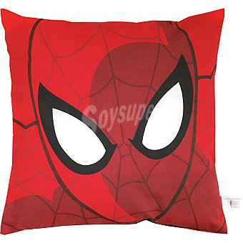 MARVEL Spiderman Cojín infantil cuadrado de 50 x 50 cm en color rojo