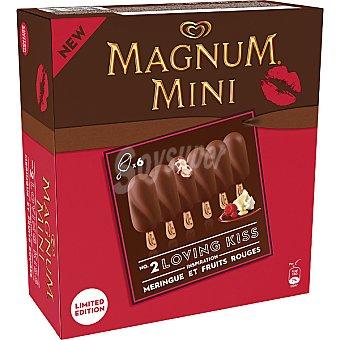 Frigo Magnum Mini bombón helado con merengue y frutos rojos Mini Loving Kiss estuche 300 ml 6 unidades