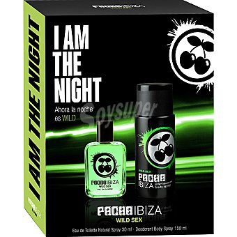 Pachá Ibiza Wild Sex eau de toilette natural masculina + desodorante spray 150 ml Spray 30 ml