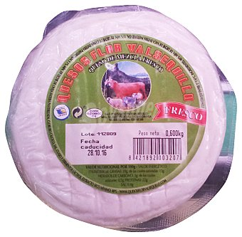 Valsequillo Queso fresco Tarrina 600 g