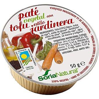 Soria Natural Paté vegetal con tofu al estilo jardinera ecológico envase 50 g Envase 50 g