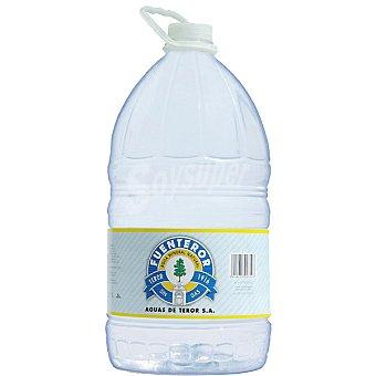 Fuenteror Agua mineral natural sin gas garrafa 8 l Garrafa 8 l