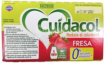 HACENDADO Yogur líquido cuidacol fresa 6 unidades de 100 g