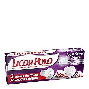 Licor del Polo Dentífrico Non-Stop White Pack 2x75 ml