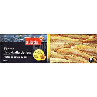 Aliada Filetes de caballa del sur en aceite de girasol neto escurrido Pack 2 lata 65 g