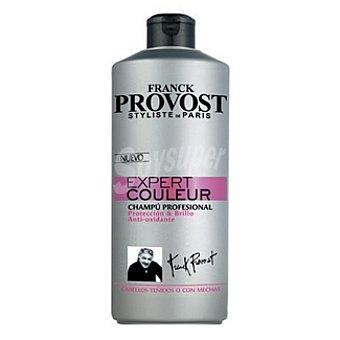 FRANCK PROVOST Expert Couleur Champú profesional protección & brillo anti-oxidante para cabellos teñidos o con mechas Botella 750 ml