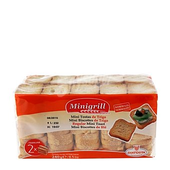 MINIGRILL Minibiscotes Familiar Pack de 2x120 g