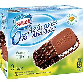 Nestlé Maxi sándwich de nata sin azúcares añadidos estuche 360 ml 3 unidades