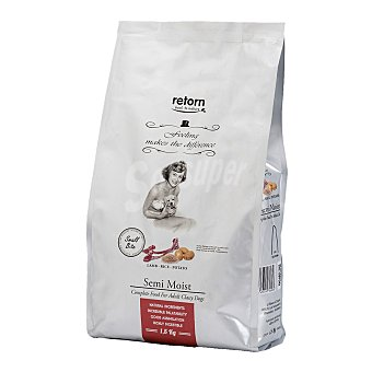 Retorn Small adult pienso semi húmedo para perros adultos pequeños con cordero, arroz y patata Bolsa 1,5 kg