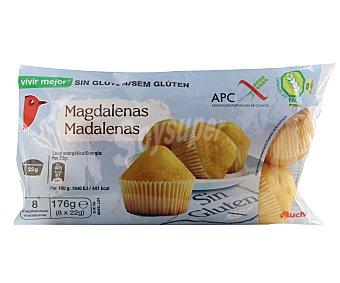 Auchan Magdalenas sin gluten (controlado por la face) 176 gramos