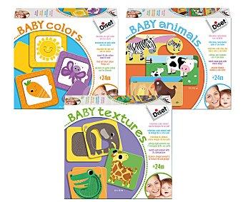 DISET Surtido de juegos educativos infantiles; colores, animales o texturas 1 unidad
