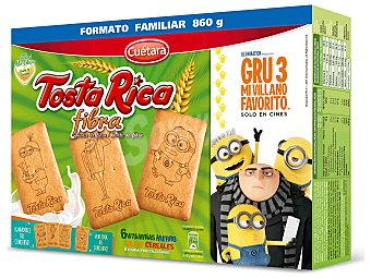 Cuétara Galletas Tosta Rica con fibras infantiles  Caja 860 g