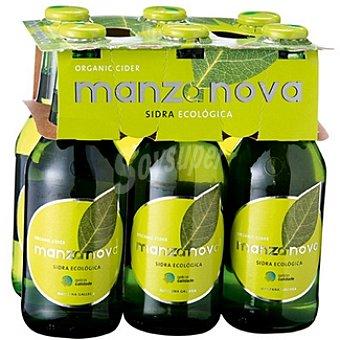 Manzanova Sidra ecológica gasificada Pack 6 botella 25 cl