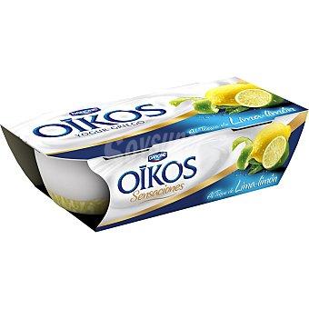 DANONE OIKOS SENSACIONES Yogur griego con un toque de limon  pack 2 unidades 115 g