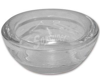 GÓTICA Soporte transparente para vela calientaplatos o tealight grandes, 9x3 centímetros (diámetro x alto) 1 Unidad