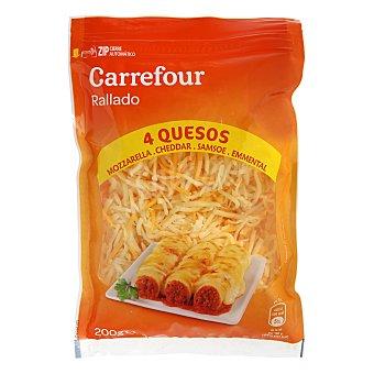 Carrefour Queso rallado cuatro quesos 200 g