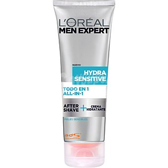 L'OREAL MEN EXPERT Hydra Sensitive Todo en 1 after shave + crema hidratante tubo 75 ml Tubo 75 ml