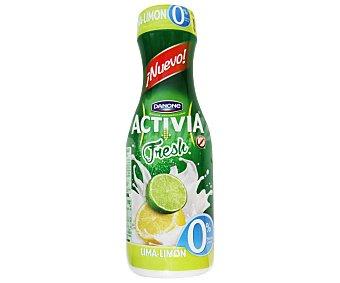 Activia Danone Yogur líquido de lima-limón, 0% materia grasa 550 gramos