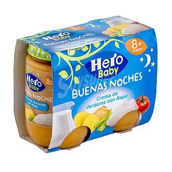 Hero Baby Tarrito crema de verduras con rape noches a partir 8 meses Tarro pack 2 x 190 g - 380 g