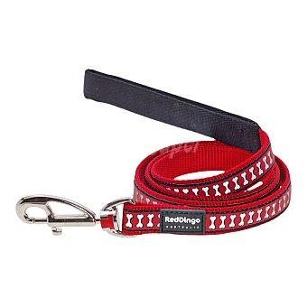 Red Dingo Correa para perro color rojo medidas 15 mm x 1,2 mm 1 unidad