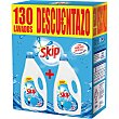Detergente máquina líquido Active Clean pack 2 botella 65 dosis caja 130 lavados caja 130 lavados Skip