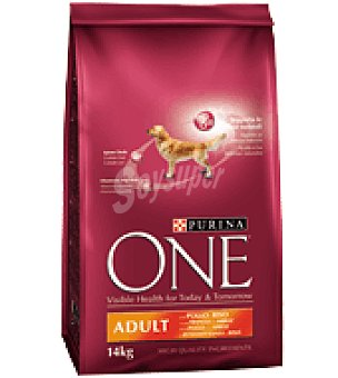 One Purina One adulto perro pollo y arroz Paquete de 14 kg
