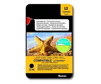 Auchan Cartucho Negro N°16/17 (L2) - Compatible con impresoras: lexmark X 74 / 75 / 1100 / 1130 / 1150 / 1160 / 1170 / 1180 / 1182 / 1190 / 1210 / 1270 / 1290 / 2200 / 2230 / 2250 - lexmark Z 13 / 23 / 24 / 25 / 27 / 33 / 34 / 35 / 378 / 510 / 513 / 515 / 517 / 600 / 601 / 602 / 604 / 610 / 612 / 615 / 617 / 640