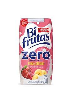 Bifrutas Pascual Bebida de leche con zumo de fresa y plátano 6 x 200 ml