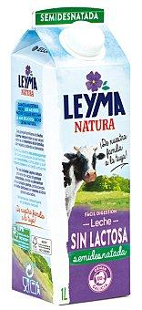 Leyma Natura Leche semidesnatada UHT Sin Lactosa Sin Gluten Botella 1 l