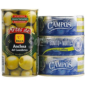 Campos Bonito del norte neto escurrido Pack 3 latas 104 g