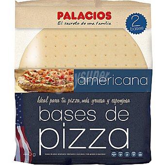 Palacios Base de pizza americana bolsa 440 g 2 unidades
