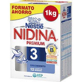 Nidina Nestlé Leche de continuación Premium 3 Caja 1 kg