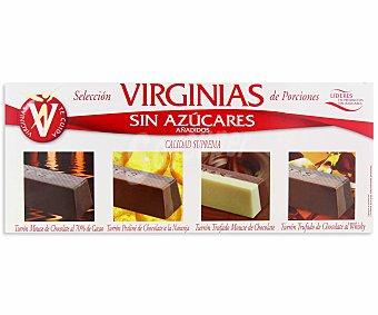 Virginias Tturrones surtidos de chocolate sin azúcares añadidos 200 gramos
