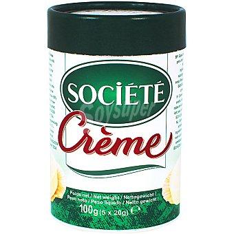 Société Crema de queso 5 porciones Envase 100 g