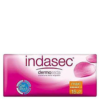 Indasec Compresa para incontinencia maxi, dermoseda Caja 15 unidades