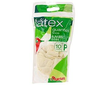 Auchan Guantes de látex finos talla pequeña 6-6 1/2 10 uds