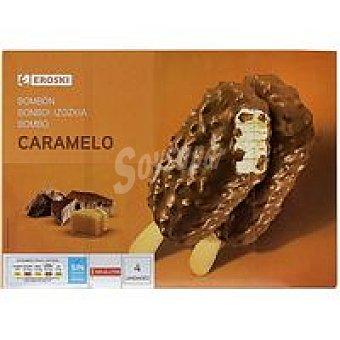 Eroski Bombones caramelo choco Caja 4 u x 90 ml (360 ml)