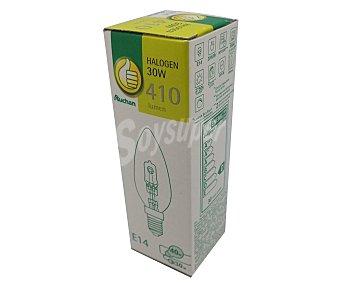 Productos Económicos Alcampo Bombilla ecohalógena vela 30W, E14, Luz cálida 1 Unidad