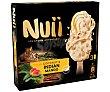 Bombón de helado de coco y mango de la India, recubierto de chocolate blanco 3 x 90 ml Nuii