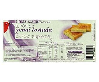 Auchan Turrón de yema tostada sin azúcares añadidos 200 gramos