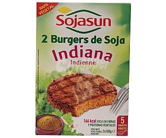 Sojasun Hamburguesa de soja indiana 100% vegetal envase 200 g 2 unidades