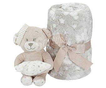 Interbaby Peluche manta oso, color beige,interbaby