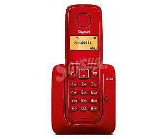 GIGASET A120 ROJO Teléfono inalámbrico