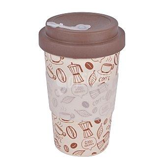 Taberseo Vaso Café con Tapa Bamtú taberseo Coffee 8,7x14 cm - Decorado