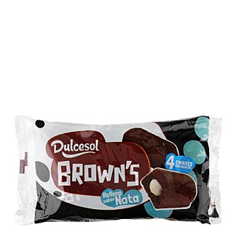 Dulcesol Browns chocolate nata 180 g 4 unidades