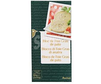 Auchan Foie gras de pato 150 gramos